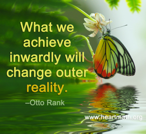 What we achieve inwaredly is shown outwardly