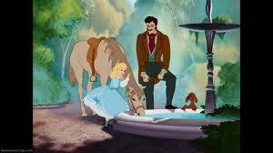 Cinderellas Prince watering horse